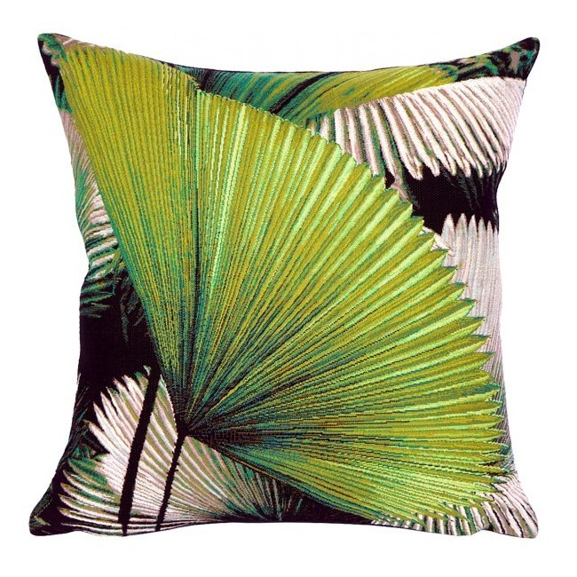 coussin tropical avec feuille de palmier qualit haut de gamme. Black Bedroom Furniture Sets. Home Design Ideas