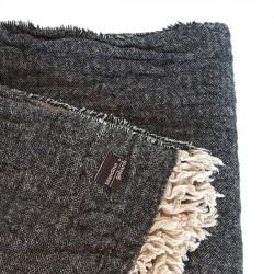 Plaid gaufré noir
