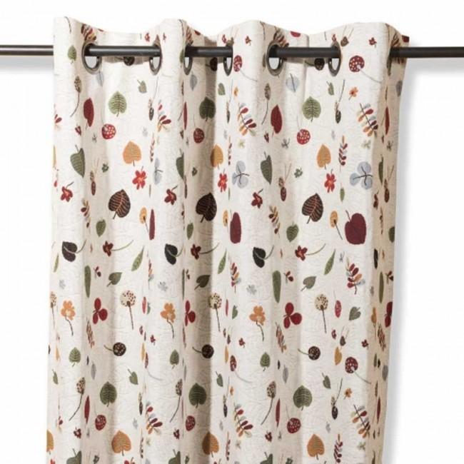 rideau feuilles d 39 automne multicolores. Black Bedroom Furniture Sets. Home Design Ideas