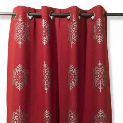 rideau double face haut de gamme rouge blanc