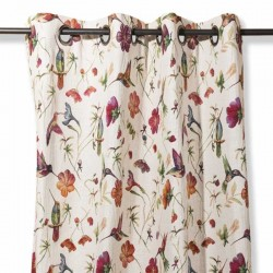 Flower hummingbird curtain