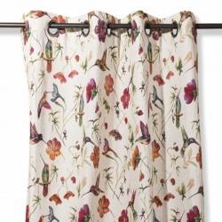 Flower hummingbird curtain