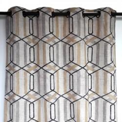 Rideau lin géométrique haut de gamme