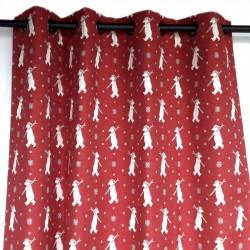 high end mountain bear red curtain