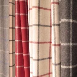 Tissu ameublement carreaux laine haut de gamme