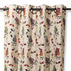 Curtain Colorful Owls
