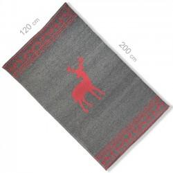 Tapis en laine 120x200 style montagne rouge
