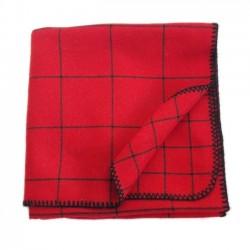 Plaid carreau rouge hygge haut de gamme