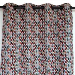 high-end geometric curtain