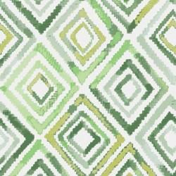Tissu extérieur losange vert