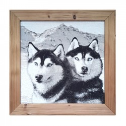 huskie picture frame