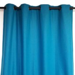 Rideau laine uni turquoise haut de gamme