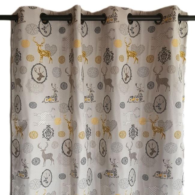 Baroque mountain curtain