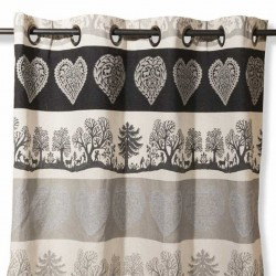brown mountain Curtain