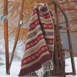Plaid pure laine ethnique haut de gamme