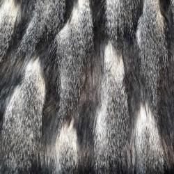 Fourrure poils long au mètre haut de gamme