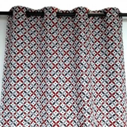 geometric high end eyelet curtain