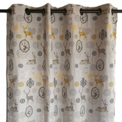 Baroque mountain curtain